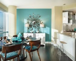 The concept of color therapy for a beautiful and soothing home