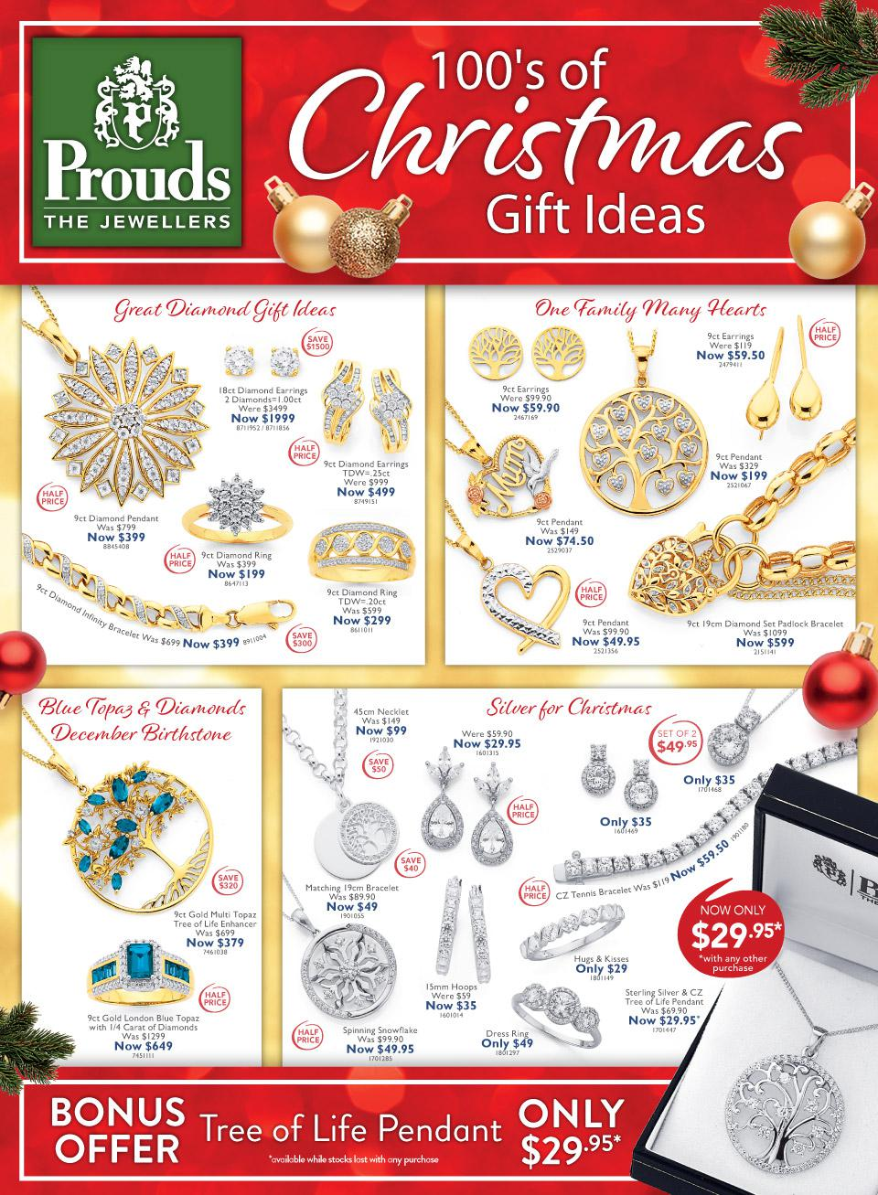 Prouds Catalogue 21 November - 24 December 2019. 100' Of Christmas Gift Ideas!