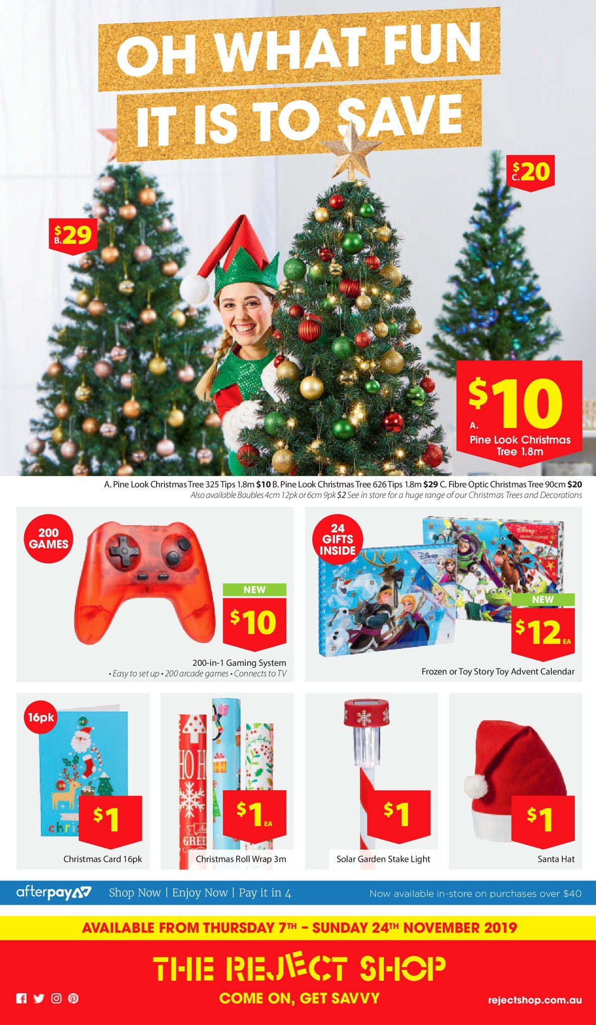 The Reject Shop Catalogue 7 November - 24 November 2019. Oh, What Fun It Is To Save!