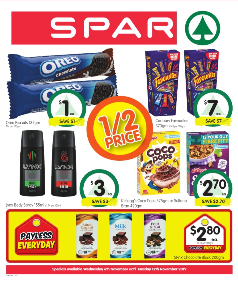 SPAR Catalogue 6 November - 12 November 2019