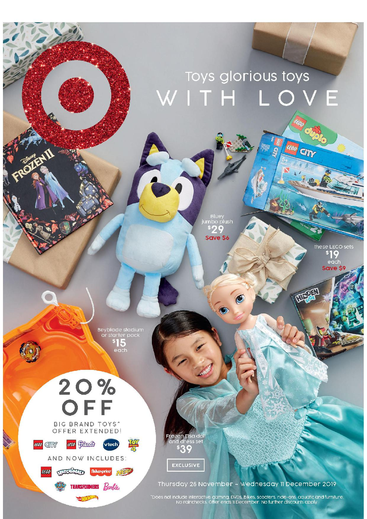 Target Catalogue 28 November – 11 December 2019. Toys Glorious Toys With Love!