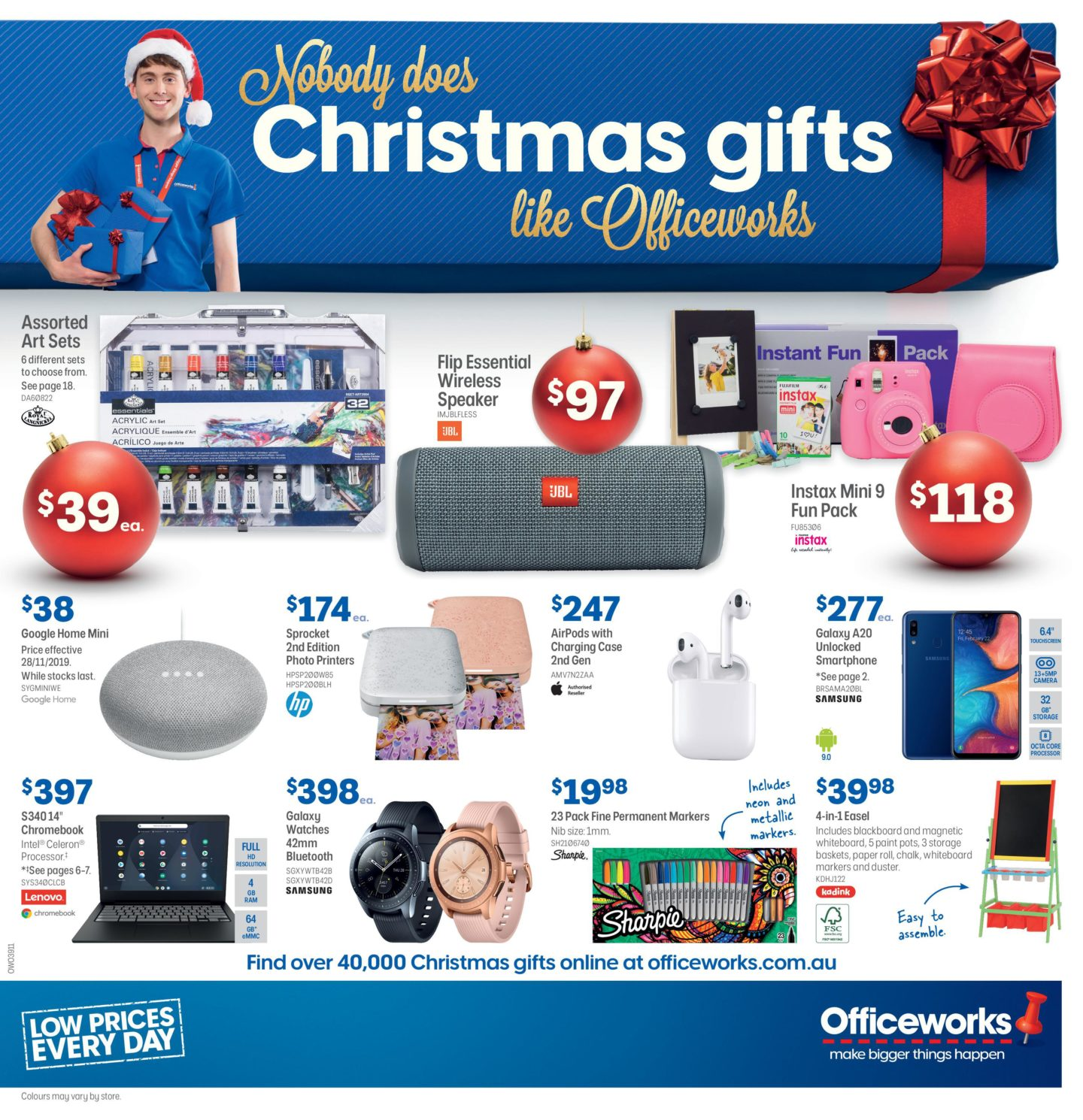 Officeworks Catalogue 28 November - 12 December 2019. Christmas Gifts!