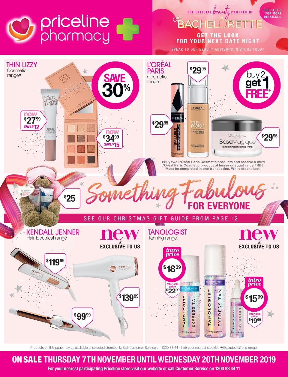Priceline Catalogue 7 November - 20 November 2019. Something Fabulous For Everyone!