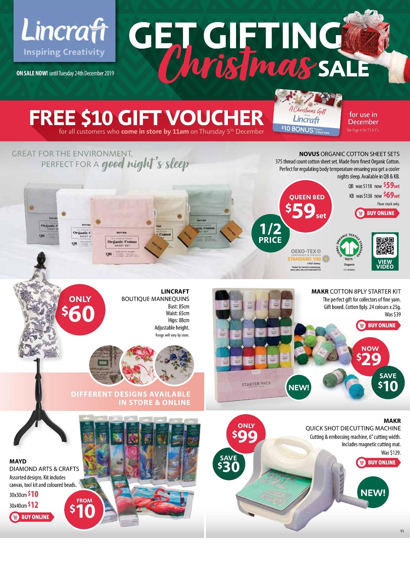 Lincraft Catalogue 1 December - 24 December 2019. Get Gifting Christmas Sale!