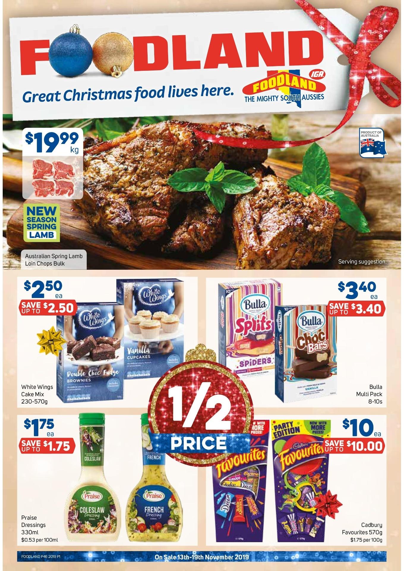 Foodland Catalogue 13 November - 19 November 2019