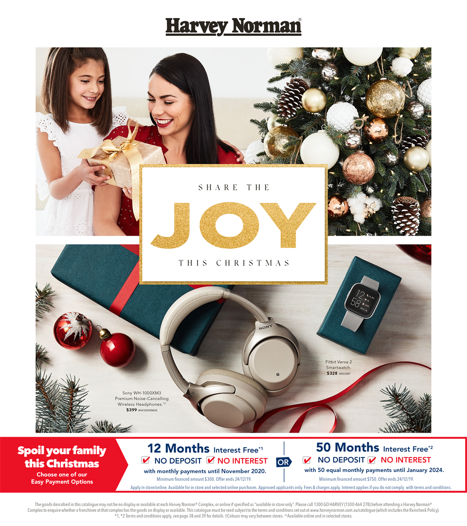 Harvey Norman Catalogue 15 November - 1 December 2019. Technology & Entertainment Gift Guide