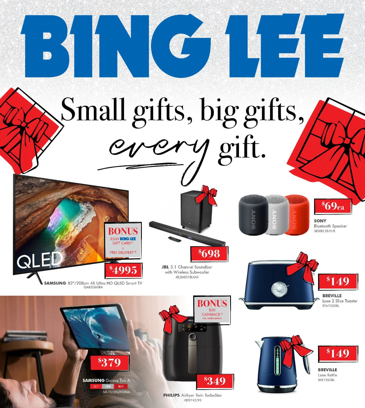 Bing Lee Catalogue 2 December - 24 December 2019. Small Gifts, Big Gifts!