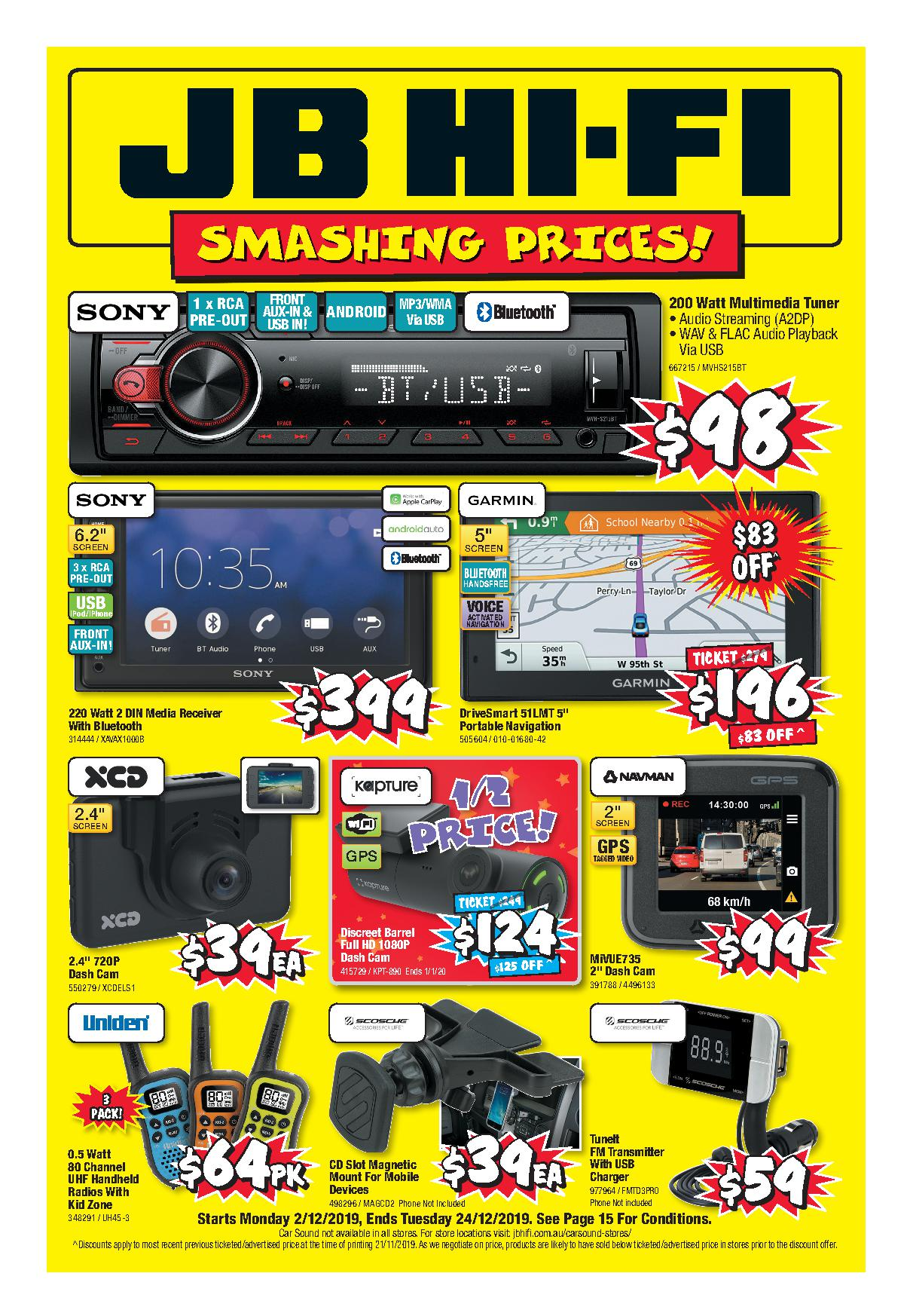 JB Hi-Fi Catalogue 2 December - 24 December 2019. Smashing Prices!