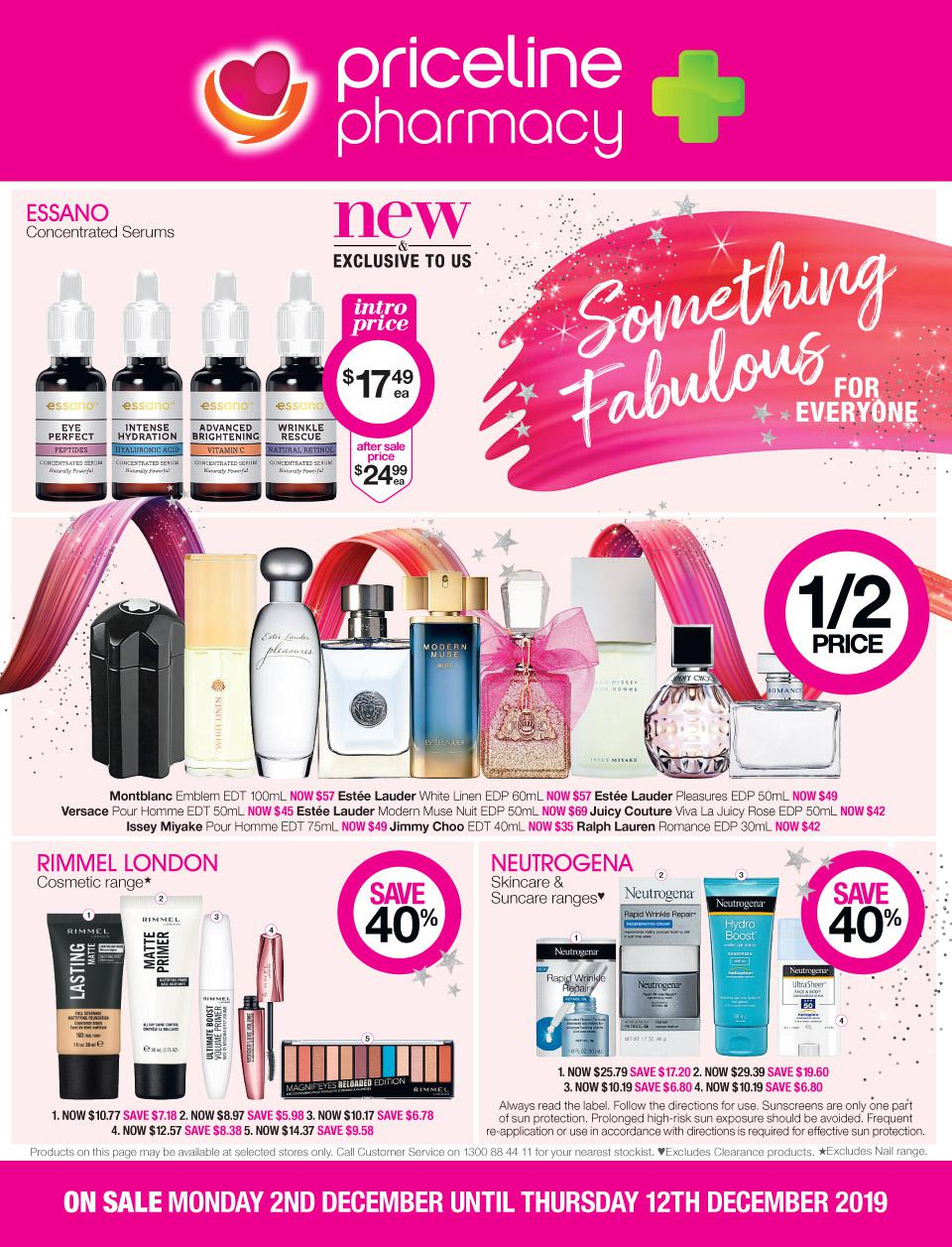 Priceline Catalogue 2 December - 12 December 2019. Something Fabulous For Everyone!