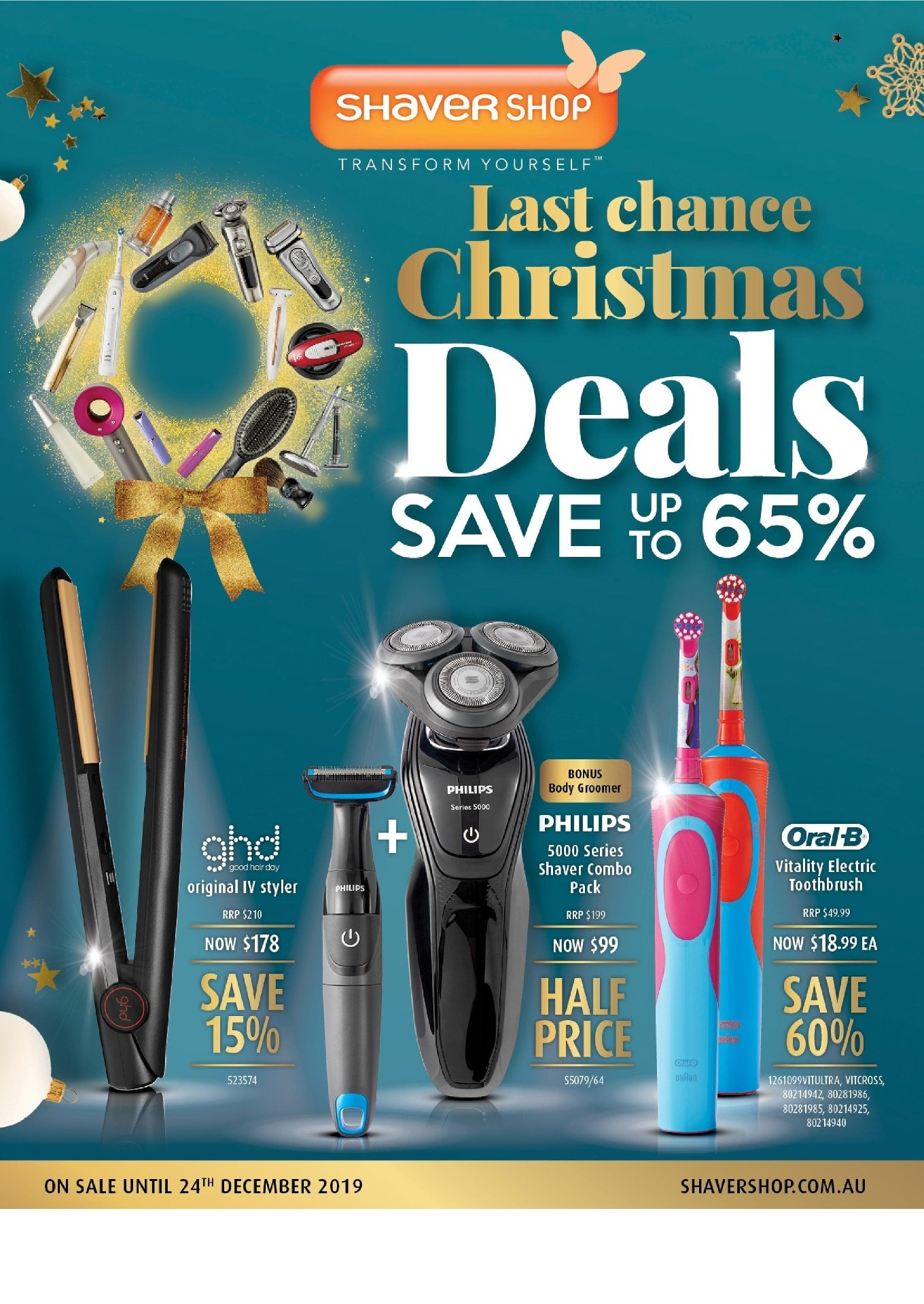 Shaver Shop Catalogue 9 December - 24 December 2019. Last Chance Christmas Deals!