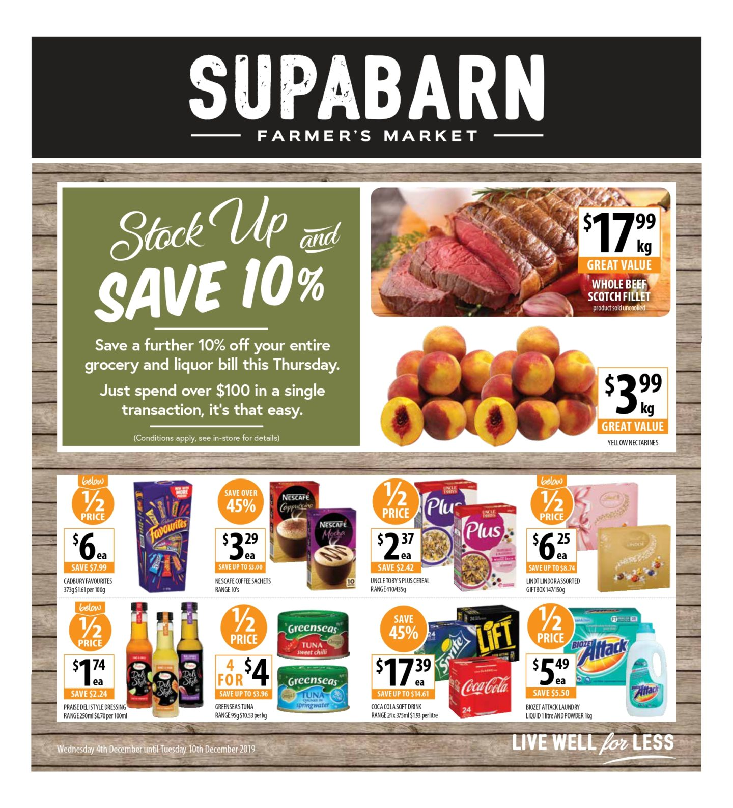 Supabarn Catalogue 4 December - 10 December 2019
