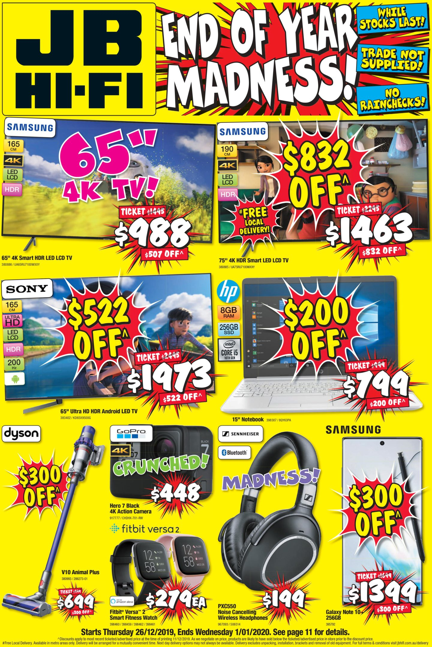 Jb Hi Fi Boxing Day Sale 26 December 2019 1 January 2020
