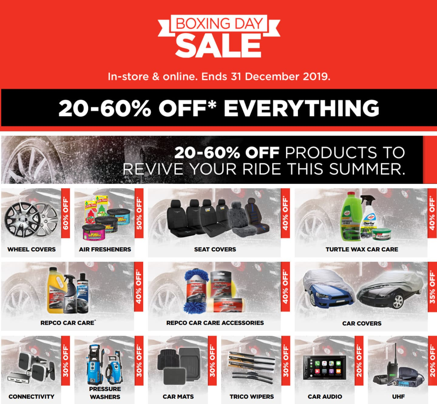 Repco Boxing Day Sale 24 December 31 December 2019